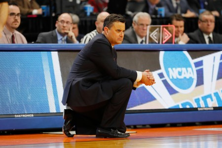 Sean Miller is seen here as the Arizona Wildcats head coach (Getty Images)