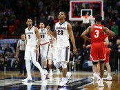 Zach Norvell Jr. celebrates the Gonzaga win (Getty Images)