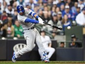 Albert Almora Jr. is seen here batting (Getty Images)