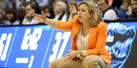 Amanda Butler is seen here coaching with the Florida Gators (Photo by Logan Bowles-USA TODAY Sports)