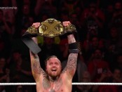 """Aleister Black after he defeated Andrade """"Cien"""" Almas for the NXT Championship (Photo by the WWE)"""