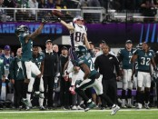 Danny Amendola is seen here attempting to make a catch against the Philadelphia Eagles in Super Bowl LII (Getty Images)