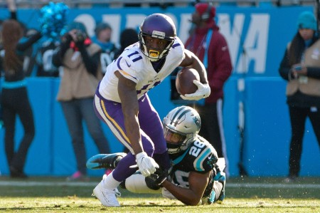 Daryl Worley is seen here as a member of the Carolina Panthers, as he attempted to tackle Minnesota Vikings wide receiver Laquon Treadwell (Getty Images)