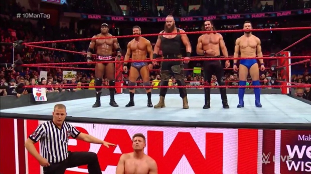 The Miz after his team was defeated in the 10-man tag team (Photo by the WWE)
