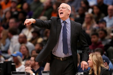 Phoenix Suns interim head coach Jay Triano coaching a game