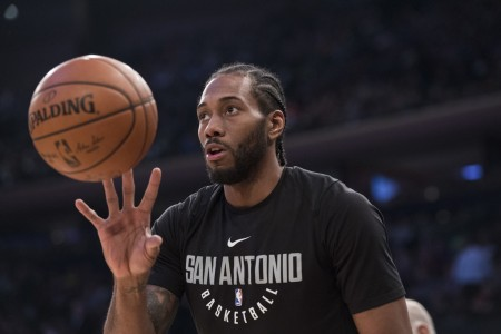 Kawhi Leonard is seen here (Getty Images)