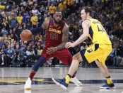 LeBron James being guarded by Bojan Bogdanovic (Getty Images)