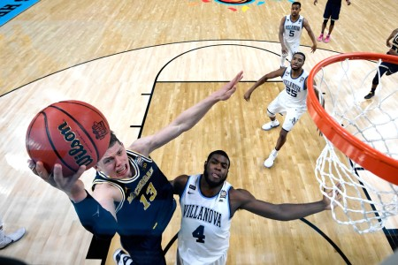 Moritz Wagner is seen here going to the basket against the Villanova Wildcats in the NCAA Division I Men's Basketball Championship's National Championship game (Getty Images)