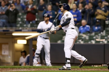 Ryan Braun is seen here after hitting the game-winning home run against the St. Louis Cardinals (Getty Images)