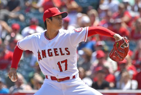 Shohei Ohtani pitching against the Oakland Athletics (Getty Images)