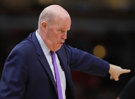 Steve Clifford is seen here as the Charlotte Hornets head coach (Getty Images)