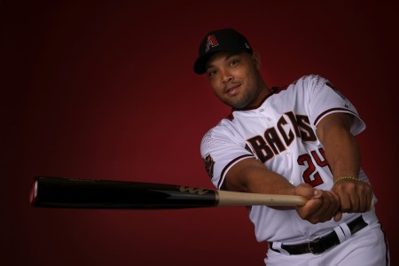 Yasmany Tomás is seen here during the Diamondbacks photo day (Getty Images)