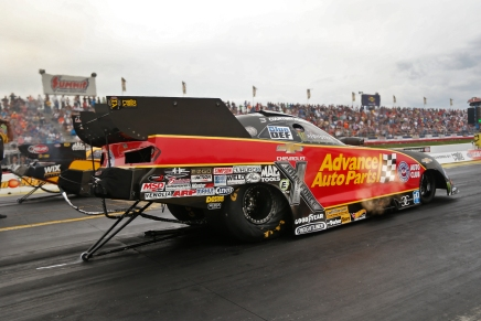 Force leads the Funny Car field in Atlanta