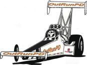 Graphic of Audrey Worm Racing's Top Fuel Dragster (Photo by Audrey Worm Racing)