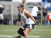 TCNJ Lions attacker Kasey Donoghue celebrates a goal