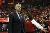 Igor Kokoškov is seen here in Game 2 of the Western Conference Semifinals, as the Utah Jazz take on the Houston Rockets (Getty Images)