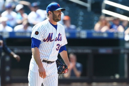 Matt Harvey is seen here as a member of the New York Mets (Getty Images)