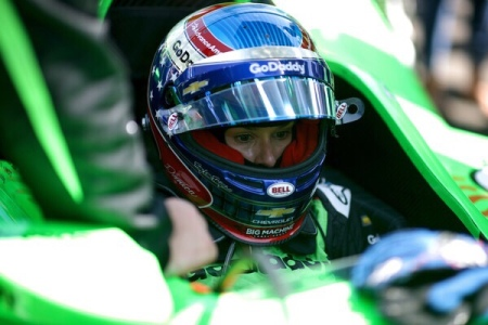 Danica Patrick driving in the Indianapolis 500 (Getty Images)
