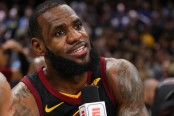 LeBron James is seen here being interviewed by ESPN after a game (Getty Images)