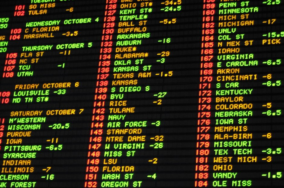 Sports wagering wall (Photo from PlayNJ.com)