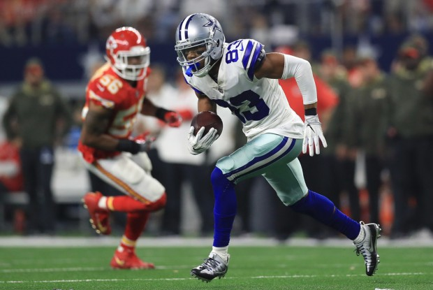 Dallas Cowboys wide receiver Terrance Williams makes a reception against the Kansas City Chiefs