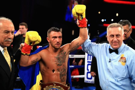 Vasyl Lomachenko after defeating Jorge Lineras on Saturday night (Getty Images)