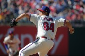 Victor Arano is seen here pitching for the Philadelphia Phillies (Getty Images)