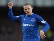 Everton's Wayne Rooney playing in the Premier League