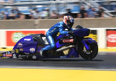 Matt Smith is seen here racing on Sunday (Photo by the NHRA)