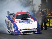 Robert Hight during Sunday's racing (Photo by the NHRA)