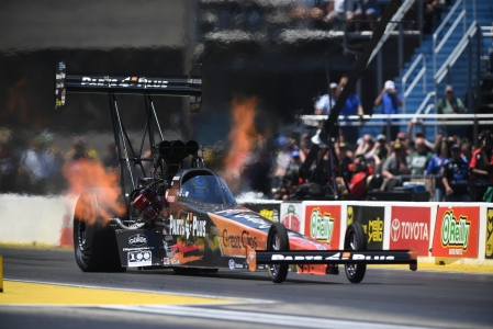 Clay Millican racing on Sunday (Photo by the NHRA)