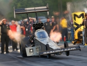 U.S. Army Racing Top Fuel Dragster pilot Tony Schumacher racing on Friday in Virginia