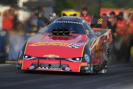 Advance Auto Parts Funny Car driver Courtney Force racing on Friday in Virginia