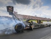 U.S. Army Racing Top Fuel Dragster pilot Tony Schumacher racing on Saturday in Virginia