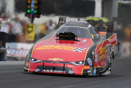 Courtney Force racing on Sunday in Virginia (Photo by the NHRA)