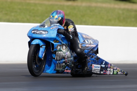 LE Tonglet racing on Sunday (Photo by the NHRA)