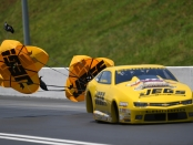 Jeg Coughlin Jr. racing on Sunday in Bristol (Photo by the NHRA)