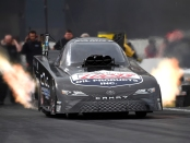Del Worsham going down the track (Photo by the NHRA)