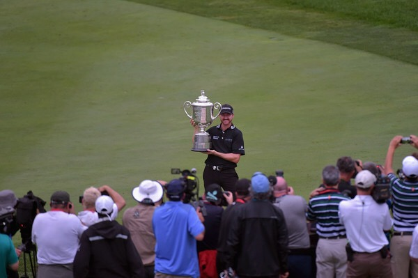 Jimmy Walker winning the PGA Championship at Baltusrol Golf Course in July 2016 (Getty Images)
