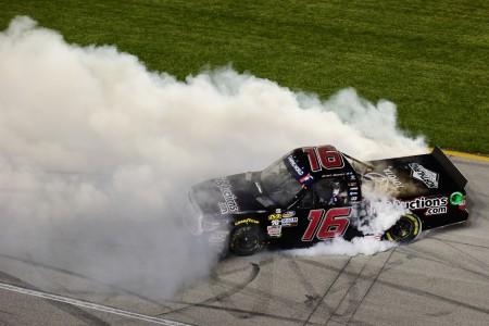 Brett Moffitt after winning the Overton's 225 at Chicagoland Speedway (Getty Images)