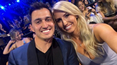 Advance Auto Parts Funny Car pilot Courtney Force with her husband, IndyCar Driver Graham Rahal at the CMT Awards (Photo by Courtney Force)