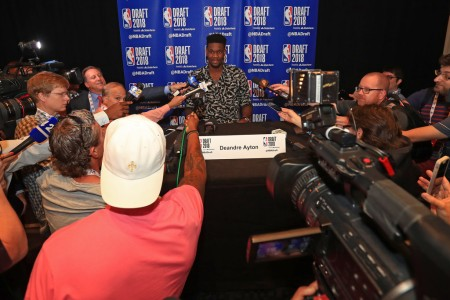 Deandre Ayton being interviewed before the NBA Draft (Getty Images)