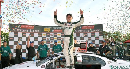 Will Rodgers after winning back-to-back races at New Jersey Motorsports Park (Photo by NASCAR Home Tracks/Twitter)