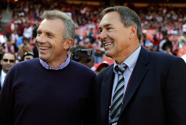 Dwight Clark, along with Joe Montana (Getty Images)