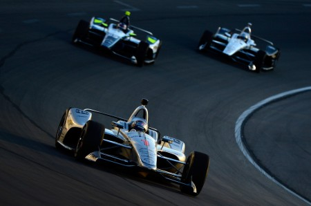 Josef Newgarden racing at the Verizon IndyCar Series DXC Technology 600 at Texas Motor Speedway on June 9, 2018 (Getty Images)