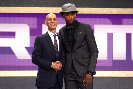 Marvin Bagley III is seen here shaking hands with NBA Commissioner Adam Silver (Getty Images)