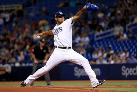Wilmer Font pitching against the Houston Astros (Getty Images)