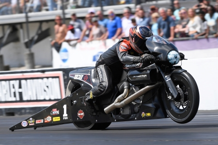 Eddie Krawiec Action Photo (Photo by the NHRA)