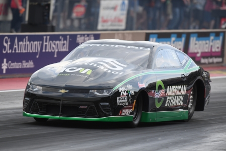 Deric Kramer is seen here racing on the mountain at Bandimere Speedway (Photo by the NHRA)