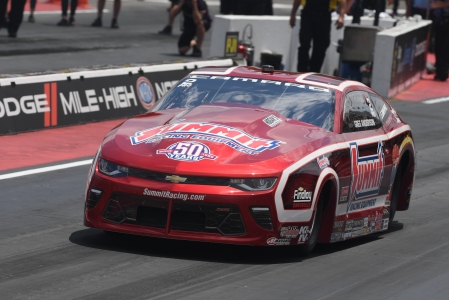Greg Anderson racing on the Mountain on Sunday (Photo by the NHRA)